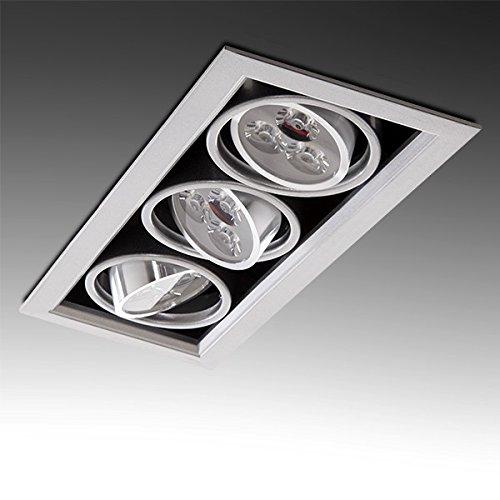 Greenice | Foco Downlight LED Rectangular 9W 900Lm 30.000H | Blanco Natural