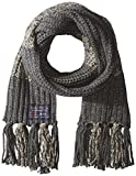 Nautica Men's Color Block Marled Scarf with Fringe, Granite Heather M, One Size