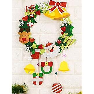 DIY-Kranz-Kit-fr-Weihnachten-handgemachte-Kranz-Making-Kit-Tr-hngen-Girlande-Ornament-DIY-Filz-Krnze-mit-Familie