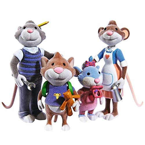 Simba 109222717 - Leo Lausemaus Figurenset Familie Test