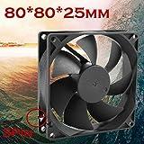 Coloré(TM) Ventilateur de boîtier Ventilateur pour processeur Tranquille 8cm / 80mm / 80x80x25mm 12V Ordinateur / PC / CPU ventilateur de refroidissement silencieux