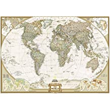 Mapa mural del mundo executive gigante (3 partes) 295x193 cm. Inglés. National Geographic.: 3 Parts (Reference - World)