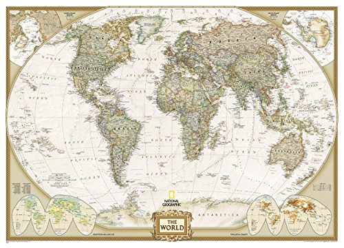 World Executive, Mural Flat : Wall Maps World: 3 Parts (Reference - World) por National Geographic Maps