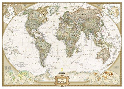 Mapa mural mundo executive gigante 3 partes 295x193