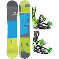Snowboard Set: Snowboard Raven Solid Carbon + Bindung Raven Fastec FT270 Green L
