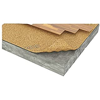AcoustiCork C31 Underlay for Floating Wood & Laminate Floors - 1m x 10m x 2.5mm with Vapour Barrier by AcoustiCork