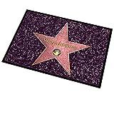 Cera & Toys Waschbare Hollywood Fußmatte – Walk of Fame - mit Gratis Namensaufdruck 50 x 70 cm für Innen- und Außenbereiche