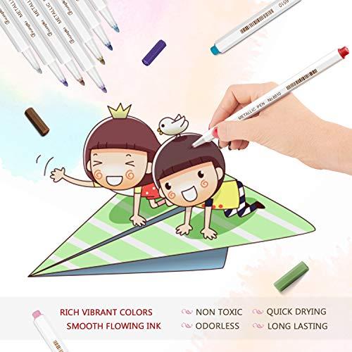 Zoom IMG-3 emooqi metallic marker penne pennarelli