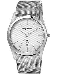 Orphelia Herren-Armbanduhr Mesh Up Analog Quarz Edelstahl