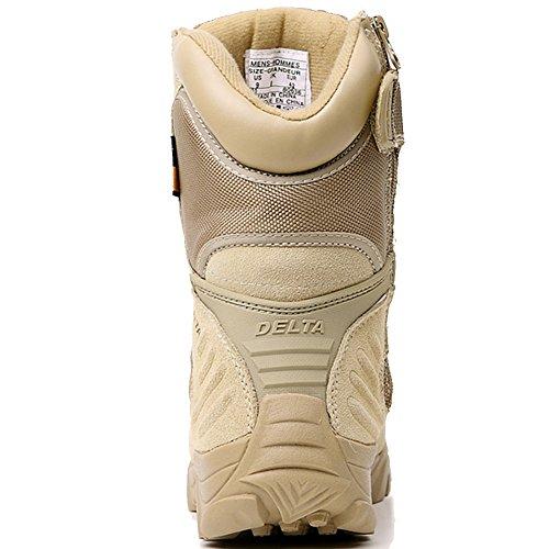 LiliChan Pour des hommes Tactique Bottes Delta Zip latéral Militaire Travail 8 pouces Armée Chaussures bronzer