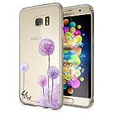 Samsung Galaxy S7 Edge Hülle Handyhülle von NALIA, Slim Silikon Motiv Case Cover Crystal Schutzhülle Dünn Durchsichtig, Etui Handy-Tasche Backcover Transparent Bumper, Designs:Dandelion Pink