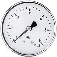 "1/4""NPT Medidor de presión de rosca para aire de combustible Aceite Gas Líquido Agua Medidor de presión de alta precisión 0-6 bar"