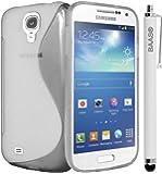 BAAS® Samsung Galaxy S4 Mini i9190 - Effacer S-Ligne Coque en gel silicone + Stylet + 3x Film de Protection d'Ecran