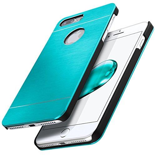 iPhone 4S Hülle Dünn Schwarz [OneFlow Aluminium Back-Cover] Schutz Handytasche Ultra-Slim Handy-Hülle für iPhone 4/4S Case Metall Schutzhülle Alu Hard-Case CARIBBEAN