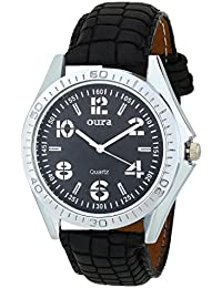 Oura Analouge Black Dial Round Watch for Boys & Men,s