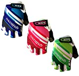 Finger Ten 2017 New Kids Junior Jr Children Child Youth Boy Girl Ride Fit Sizing Gel Padding Outdoor Sport Cycling Mountain Road Bike Bicycle Half Finger Gloves Value 1 Pair (Age 2-10) (Green, XL (Age 10-12))