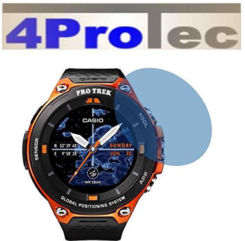 4ProTec 2 Stück GEHÄRTETE ANTIREFLEX matt Displayschutzfolie für Casio WSD-F20 Bildschirmschutzfolie
