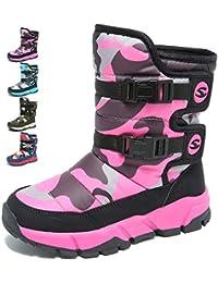 BOLOG Niños Botas de Nieve Niña Niño Invierno Felpa Botines Impermeable  Calentar Bota de Invierno para Niños Outdoor Zapatos de Invierno… a0066aa32f3