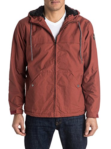 Quiksilver Herren Jacke Wanna, Rot (Barn Red Rqj0), Large