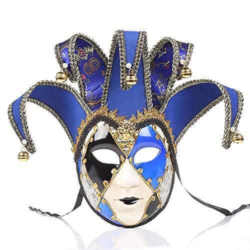 Edle Kostüm Lady - QWE Bemalte Halloween Party Party Maske Hochwertige Venice Lady Performance Maske