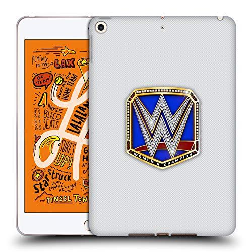 Head Case Designs Offizielle WWE Smackdown Women's Champion Weltmeistertitel Soft Gel Huelle kompatibel mit iPad Mini (2019) (Champion Wwe Womens)