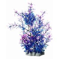 TOOGOO (R) Planta Artificial Plastico Decoracion para Acuario Pecera Color Purpura Azul