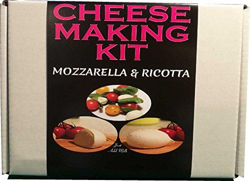 Cheese making kit | mozzarella & ricotta | termometro/sonda inclusi | Ideale per uso domestico | Nice regalo unico