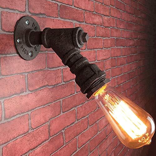 LDDENDP Estilo industrial - Lámpara de pared de tubo de agua de hierro forjado vintage E27 Edison Bombilla de tungsteno Lámpara de pared de óxido 220V Personalizado Creative Cafe Bar Restaurante Nostá