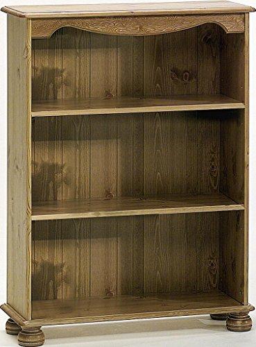 Massivholz Bücherregal 76x102x27cm Kinderzimmerregal Kiefer gebeizt lackiert