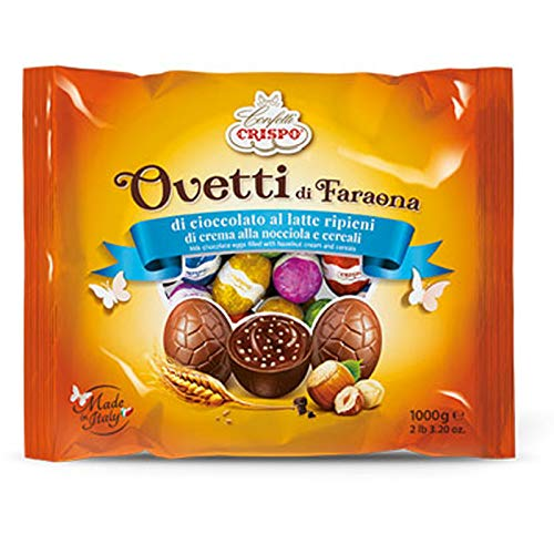 Ovetti cioccolato al latte crema nocciola cereali crispo uova di faraona 1 kg