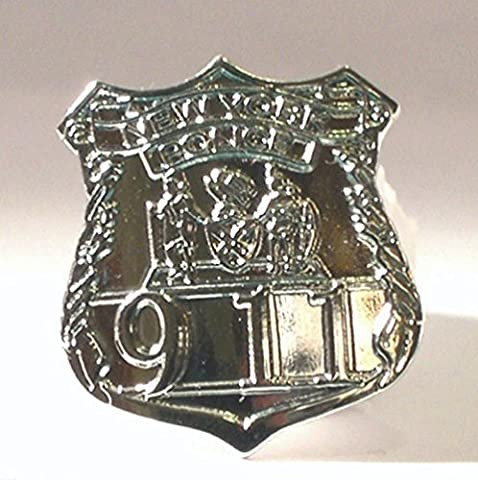 Metal Enamel Pin Badge US New York Police Department NYPD Shield (Chrome finish) by Mainly Metal