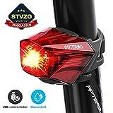 OUTERDO Fahrrad Rücklicht,StVZO Zugelassen Fahrradrücklicht Hohe Qualität Ultra Hell Fahrrad Licht, Fahrradlampe Aufladbar,Fahrradbeleuchtung LED USB Wiederaufladbare Wasserdicht für MTB Rennrad usw