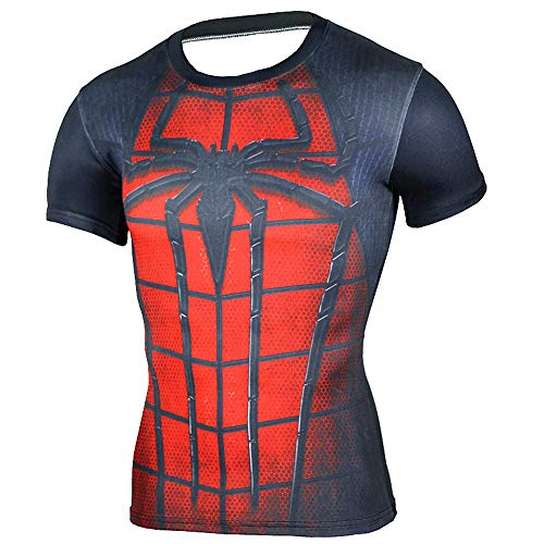HOOLAZA Avengers Super Heroes Männer Kompressions-T-Shirt Spiderman Tops Fitness
