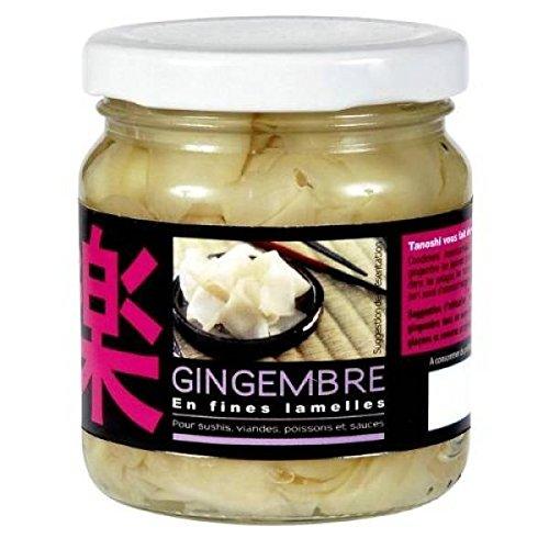 Tanoshi gingembre en lamelles 200g - ( Prix Unitaire ) - Envoi Rapide Et Soignée