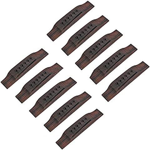 Kmise Martin Style-Chitarra Acustica con ponte a ponte di ricambio, confezione da 10 pezzi
