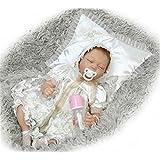 NPK Collection Reborn Baby Doll Soft Silicone 22inch 55cm Newborn Baby Doll Real Tribunal vestido de vinilo muñecas muñeca princesa durmiente