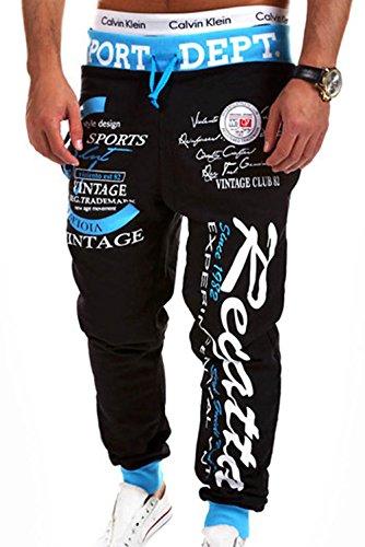 Men's Print Hip-hop Jogger Sport Pants Cotton Material ()