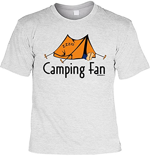 Fun Shirt mit lustigem Motiv - Camping Fan - Zelt - Wohnwagen - Geschenk  zum Geburtstag
