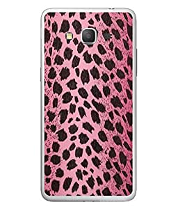 FUSON Designer Back Case Cover for Samsung Galaxy Grand 3 :: Samsung Galaxy Grand Max G720F (Pink Background Dark pattern Black Spots With Tiger Artistic )