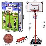 Beyondfashion Tragbar Kinder Basketball Ständer Rückwand Korb Netz Set Verstellbar + Reifen Junge Kinder (1.7m-2.16m)
