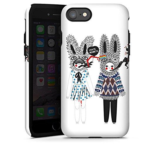 Apple iPhone X Silikon Hülle Case Schutzhülle Hasen Traum Fantasie Tough Case glänzend