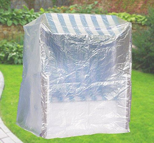 Confort Coque de protection XXL Housse pour corbeille de plage B130 X T108 x H165 cm Transparent