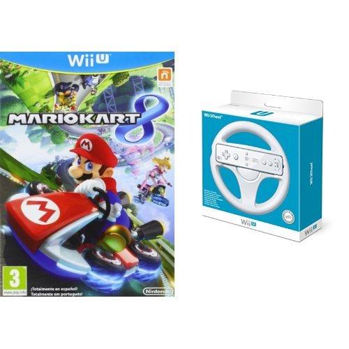 Mario Kart 8 + Volante color blanco