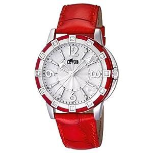 Reloj analógico Lotus 15745/2 de cuarzo para mujer con correa de piel, color rojo