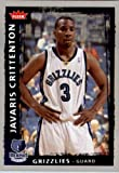 2008 2009 Fleer Basketball Card # 194 Javaris Crittenton Grizzlies Mint Condition