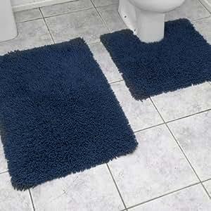 Linens Limited Chenille Twist Bath Mat & Pedestal Mat Set
