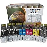 2 x 6 kompatible XL Tintenpatronen mit Chip für CANON Pixma IP8750 MG6350 MG7150 MG7550 sie bekommen 2 x Canon PGI550BK XL / 2 x Canon CLI551BK XL / 2 x Canon CLI-551C XL / 2 x Canon CLI-551M XL / 2 x Canon CLI-551Y XL / 2 x Canon CLI-551GY XL Version