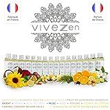 Vivezen ® Huile de massage, modelage 100% végétale - 200 ml - 16 parfums au choix - Fait en France