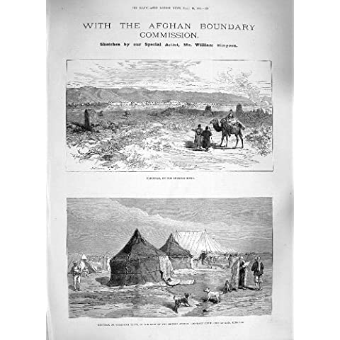 1885 CUORE AFGANO DI FRONTIERA MARUCHAK KIBITKAS LUMSDEN - Cuore Afgano