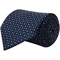 BARATA Men's Polyester Formal Tie Blue_Free Size